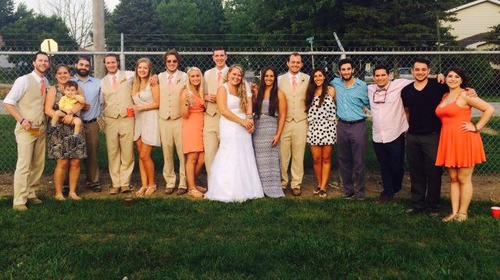 Slusher and Davidson Wedding with campers